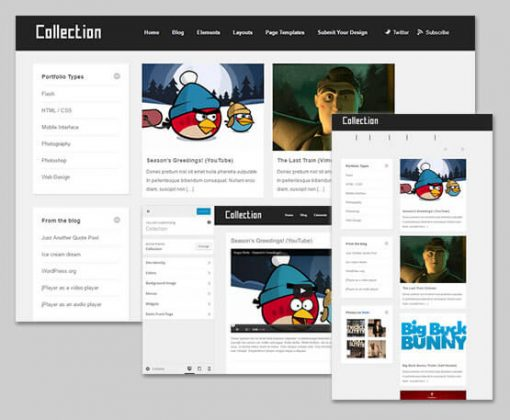collection theme wordpress