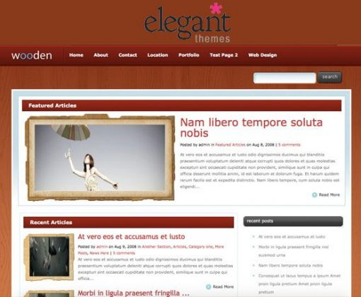 theme wooden - elegantthemes