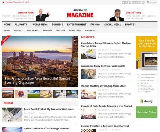 Advanced Magazine - HappyThemes