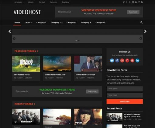 VideoHost - HappyThemes