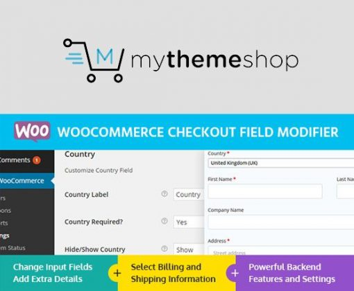 WooCommerce Checkout Field Modifier - MyThemeShop