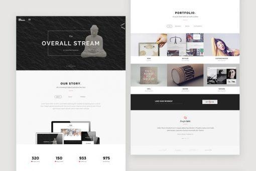 BigStream - One Page Multi-Purpose Template
