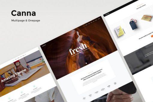 Canna - Creative Multi-Purpose HTML