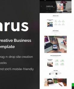 Clarus - Mobirise HTML Site Builder