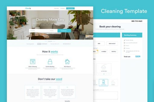 Cleaning Landing Page Template — Cleanly