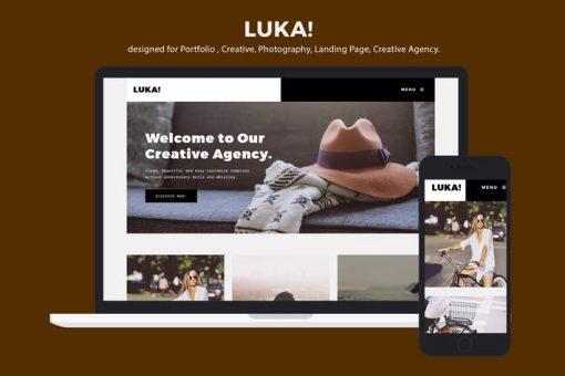 Creative Portfolio / Photography Template - Luka
