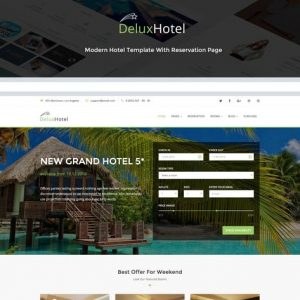 DeluxHotel - Responsive Bootstrap 4 Template For H