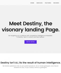 Destiny Landing Page Template