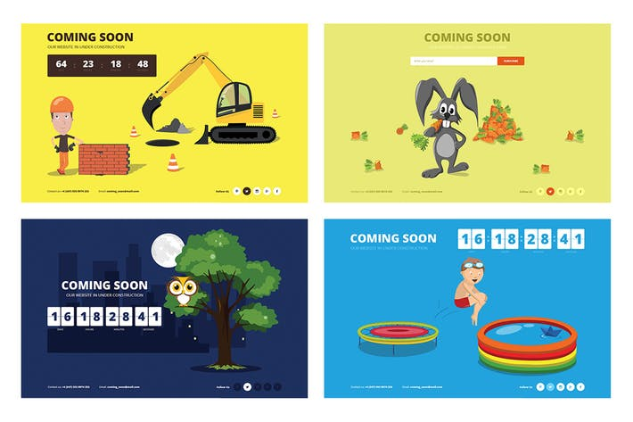 Template | Drawer Responsive Animated Coming Soon Template