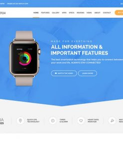 Ex Watch - Single Product eCommerce HTML