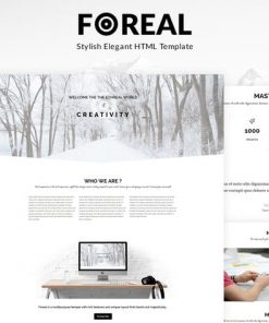 Foreal - Minimal Business HTML5 Template