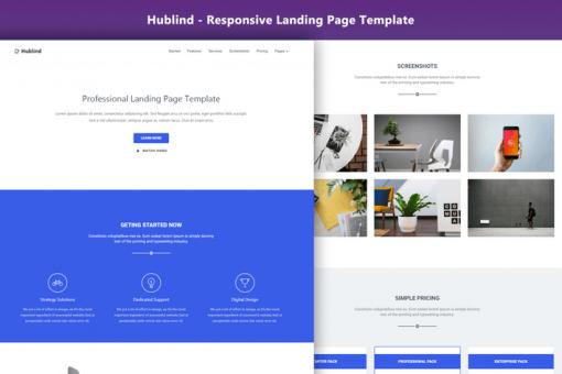 Hublind - Responsive Landing Page Template