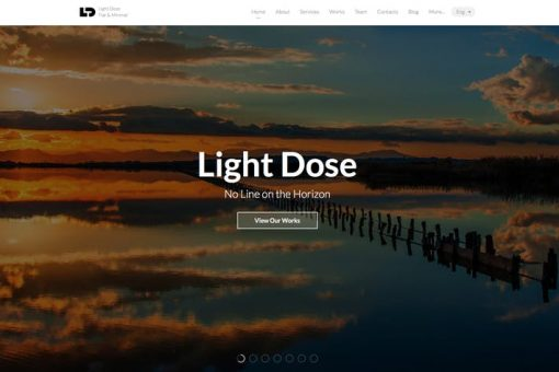 LightDose — Flat&Minimal Responsive HTML Template
