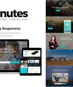 Minutes - Responsive Bootstrap Landing Page