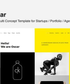 Oscar - Template for Startups, Portfolio & Agency