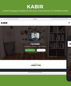 Personal vCard Template - Kabir