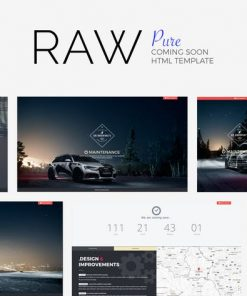 #RAW // Pure Coming Soon Template