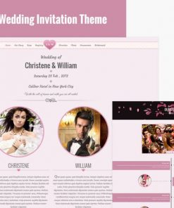 Wedding Event Invite HTML5