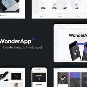 WonderApp   Responsive Multi-Purpose Landing Page