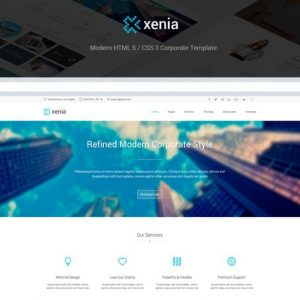 Xenia - Refined HTML 5 / CSS 3 Corporate Template