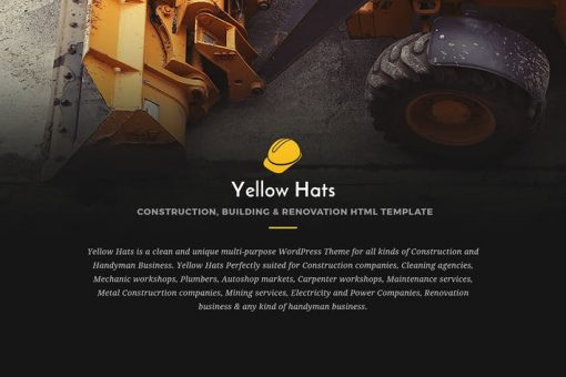 Yellow Hats - Construction HTML5 Template