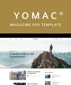 Yomac — Magazine and Blog PSD Template