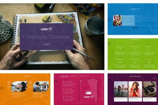 coloriT - Colorful Single Page HTML Template